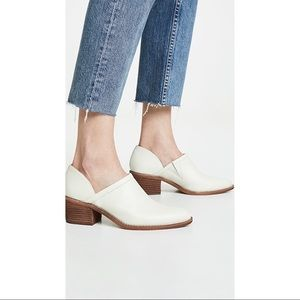 Madewell Brady Low Cut Leather Bootie White